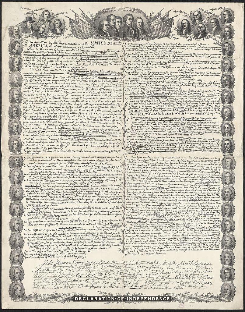 Statuts Declaration_of_Independence_USA1